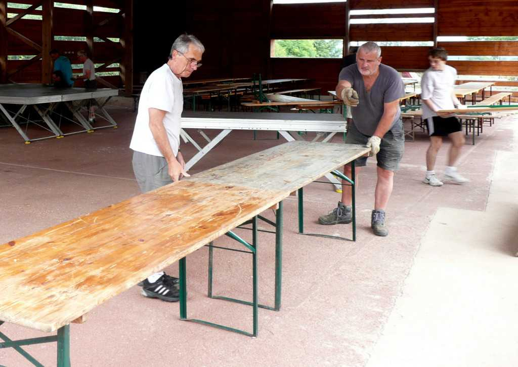 Installation des tables